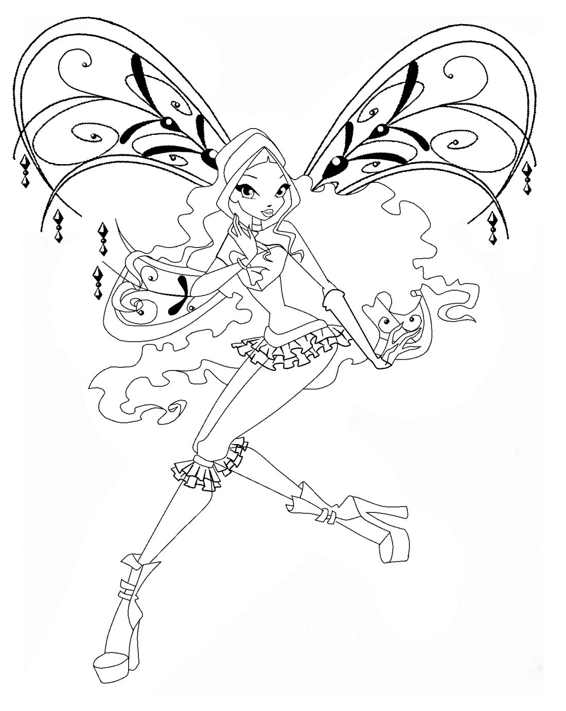 Winx Layla Coloring Pages Love Coloring Pages Coloring Pages Toddler Drawing
