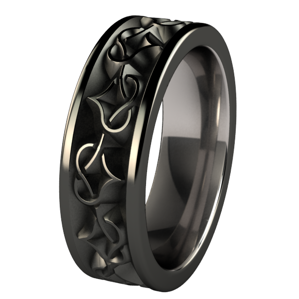 Black Celtic Wedding Bands Titanium rings for men, Rings
