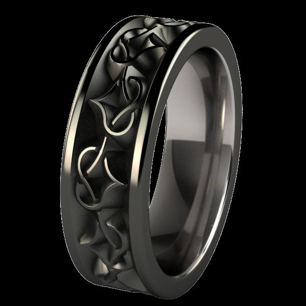 Black Celtic Wedding Bands Titanium rings for men, Rings