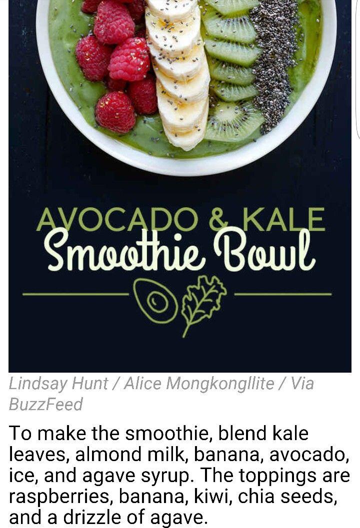 Avacado & Kale Smoothie Bowl