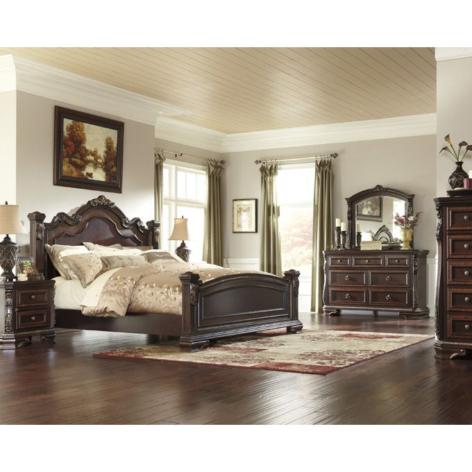 Ashley Wendlowe King/California King/Queen Poster Headboard Bedroom - Poster Bedroom Sets