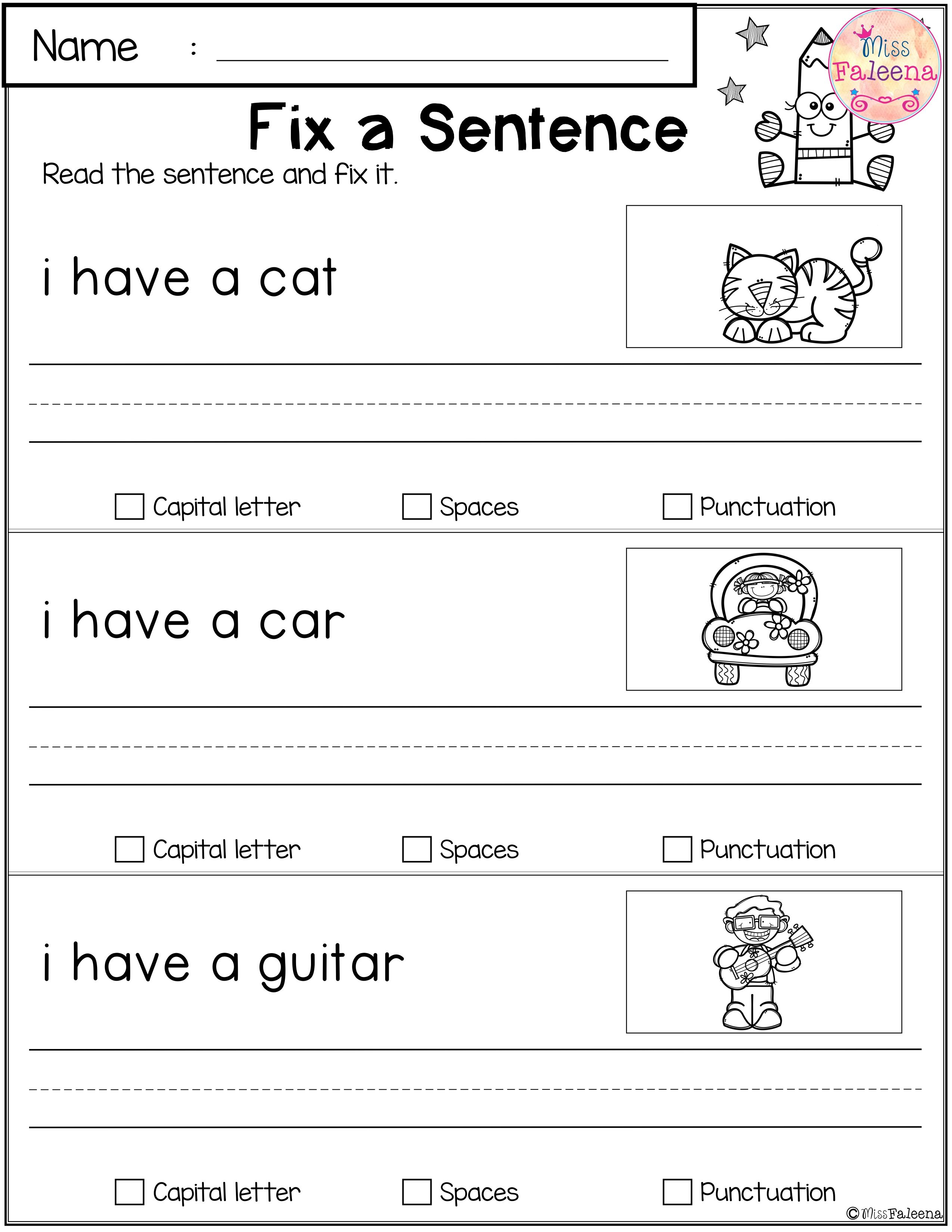 Free Reading And Writing Practice Writing Practice First Grade Worksheets First Grade Writing