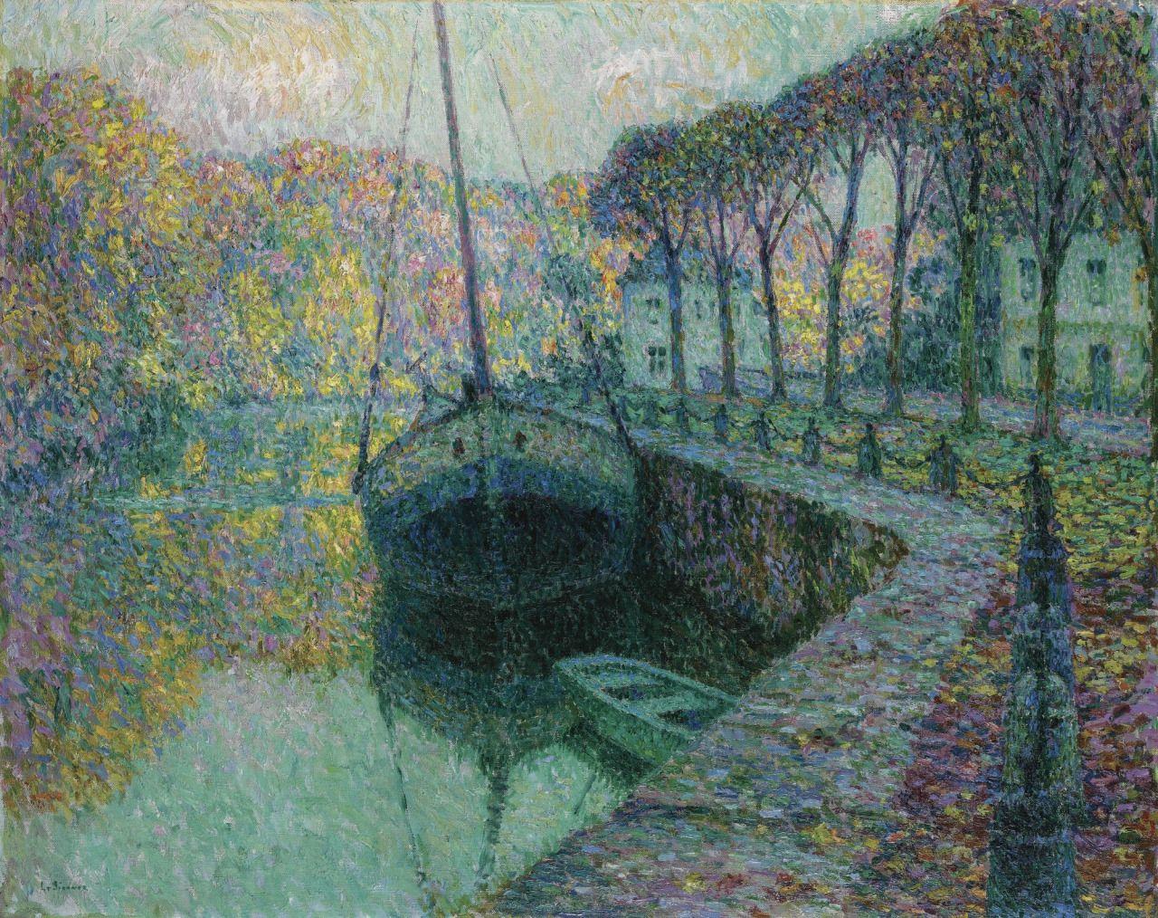 Henri Le Sidaner (1862-1939), Le Bateau de Sel - 1919