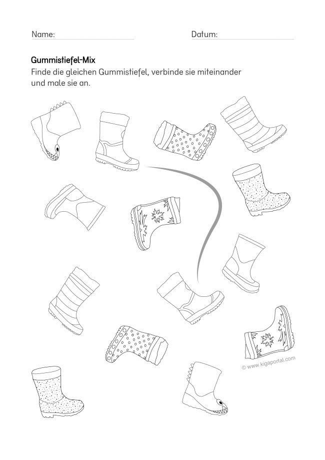 de kigaportal kindergarten wetter arbeitsblatt gummistiefel wahrnehmung. Black Bedroom Furniture Sets. Home Design Ideas
