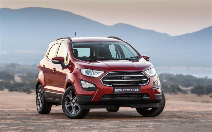 Download Wallpapers Ford Ecosport 4k 2017 Cars Crossovers Road
