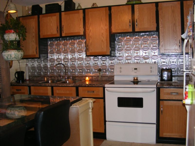 Kitchen With Metal Backsplashthe Bulls  Kitchen Ideas Pleasing Tin Backsplash For Kitchen Inspiration