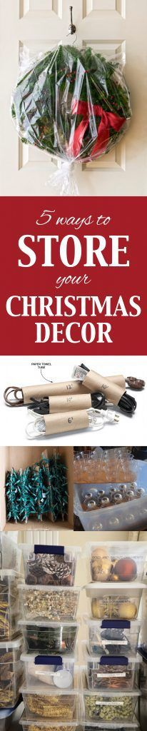 5 Ways to Store Your Christmas Decor Decoration, Store and