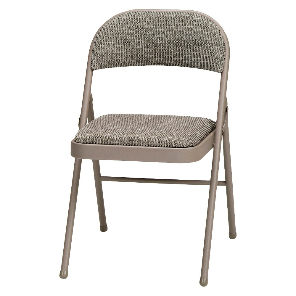 4 Piece Deluxe Fabric Padded Folding Chair Chicory Lace Frame and ...