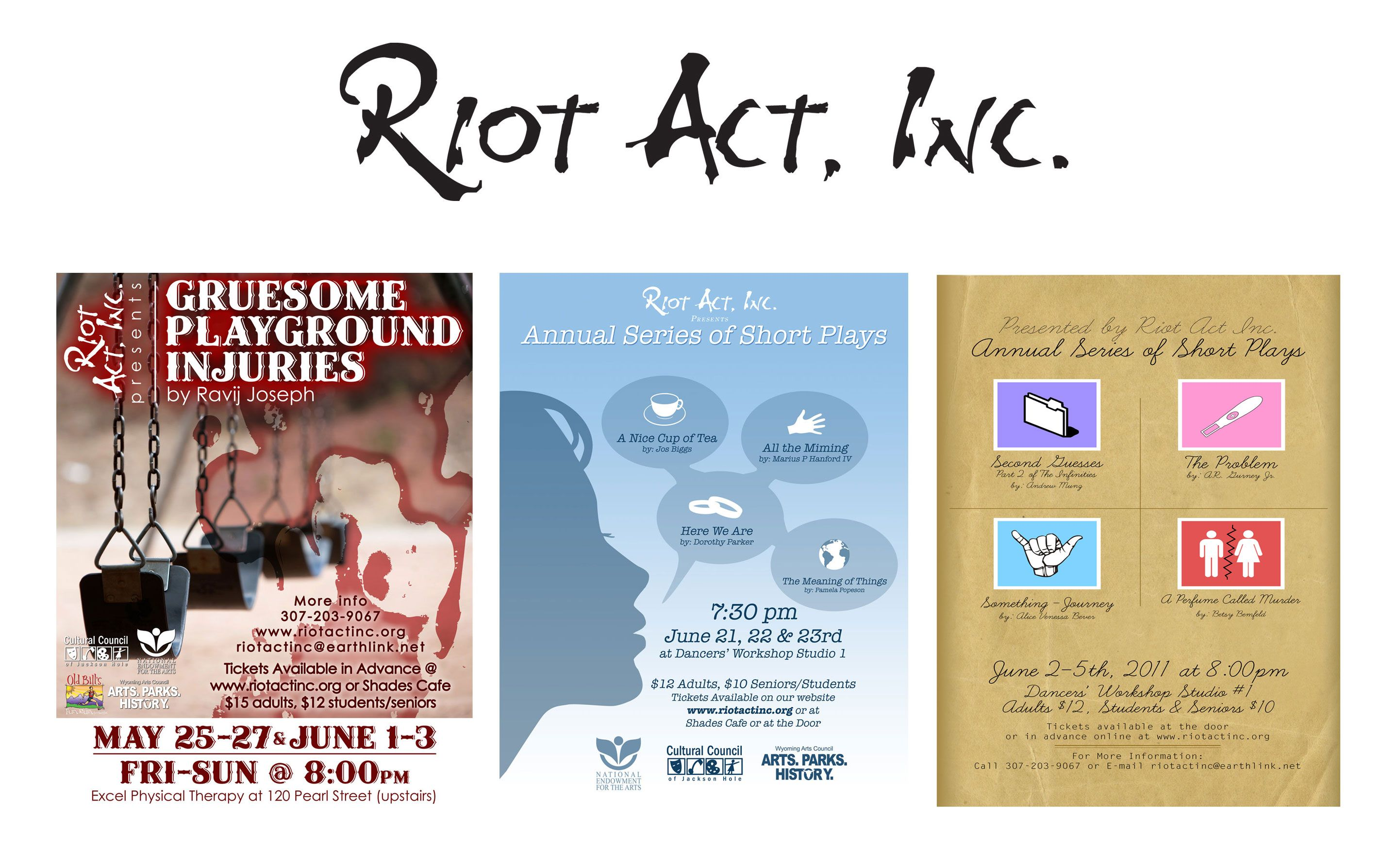 Riot Act Posters and Logo Design