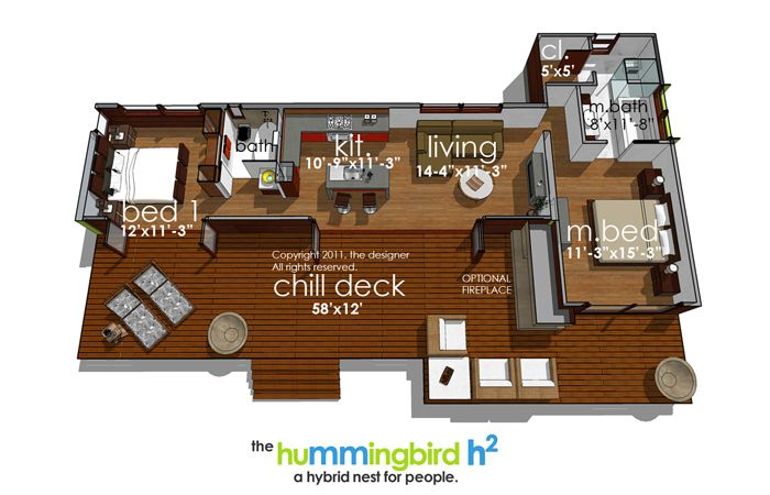 Hummingbird House Plan if I lived in California, this would be ...