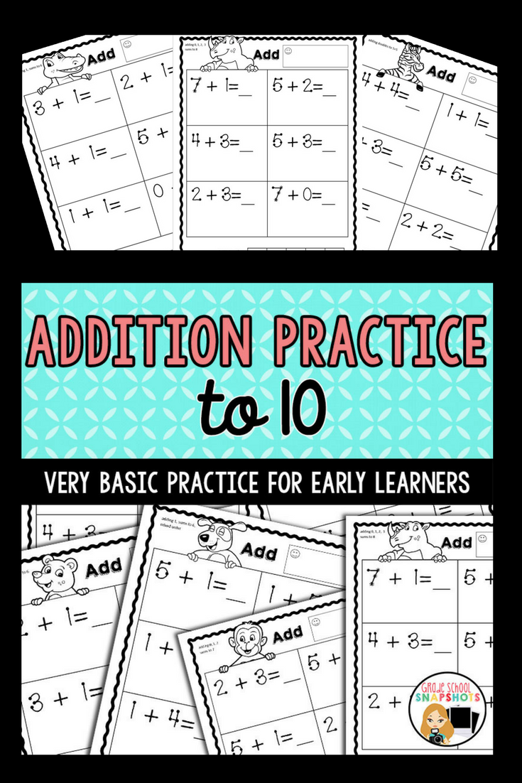 Addition Worksheets | Addition worksheets, Simple addition and ...
