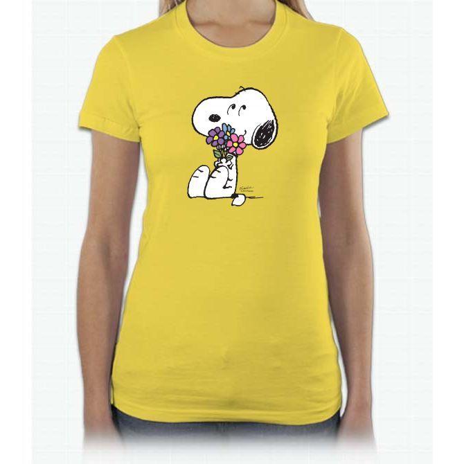 Peanuts - Snoopy - Springtime Snoopy Short Sleeve Women T-Shirt
