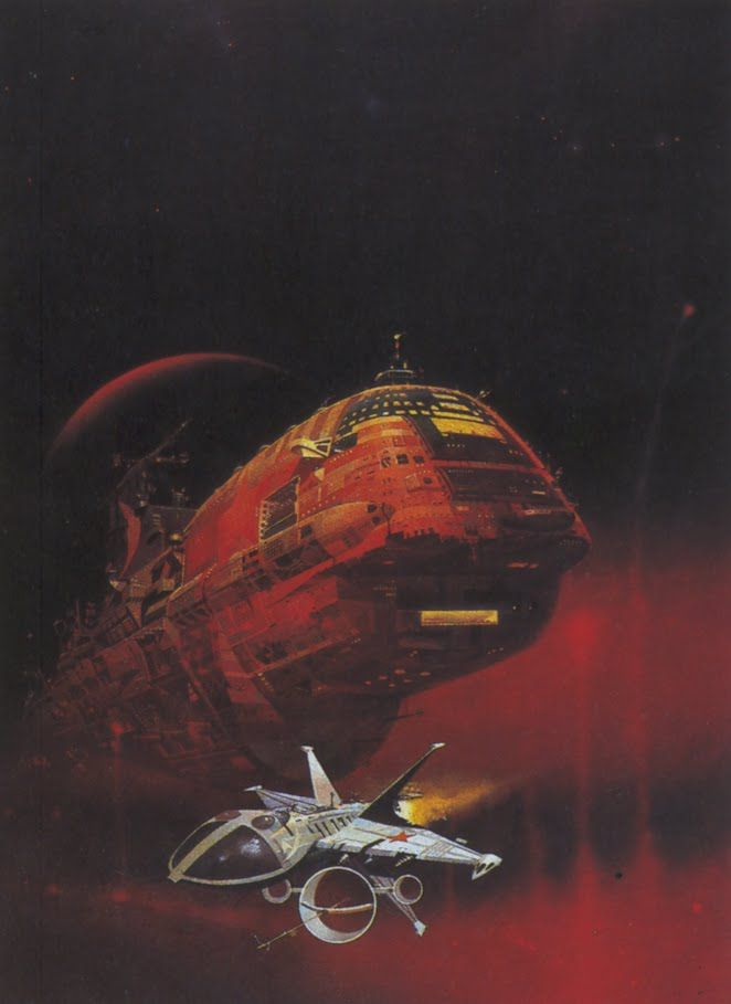 Red And Black Spaceship Concept Scifi Inspiration Art