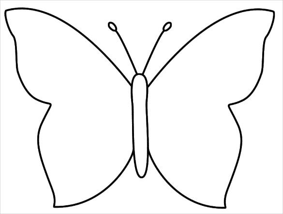 28 Butterfly Templates Printable Crafts Colouring Pages