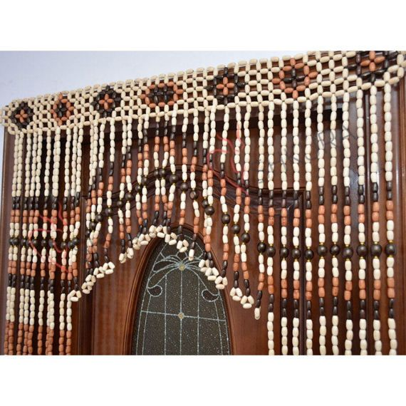 Door curtain Wood curtain Wood blinds Door Beads Beaded Curtains ...