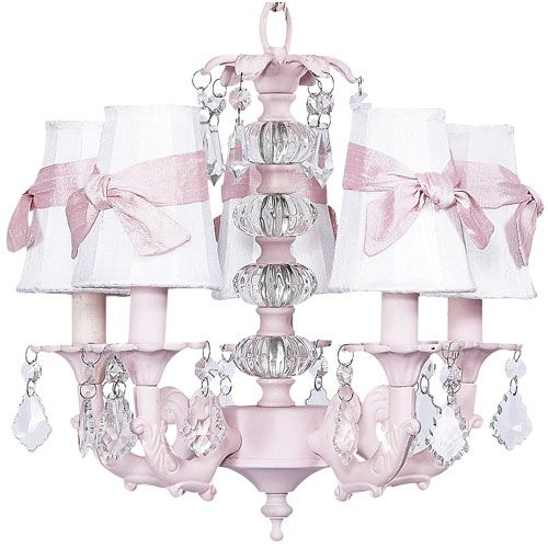Pink Chandy With Bows And Crystal Pretty And Blingy All In One