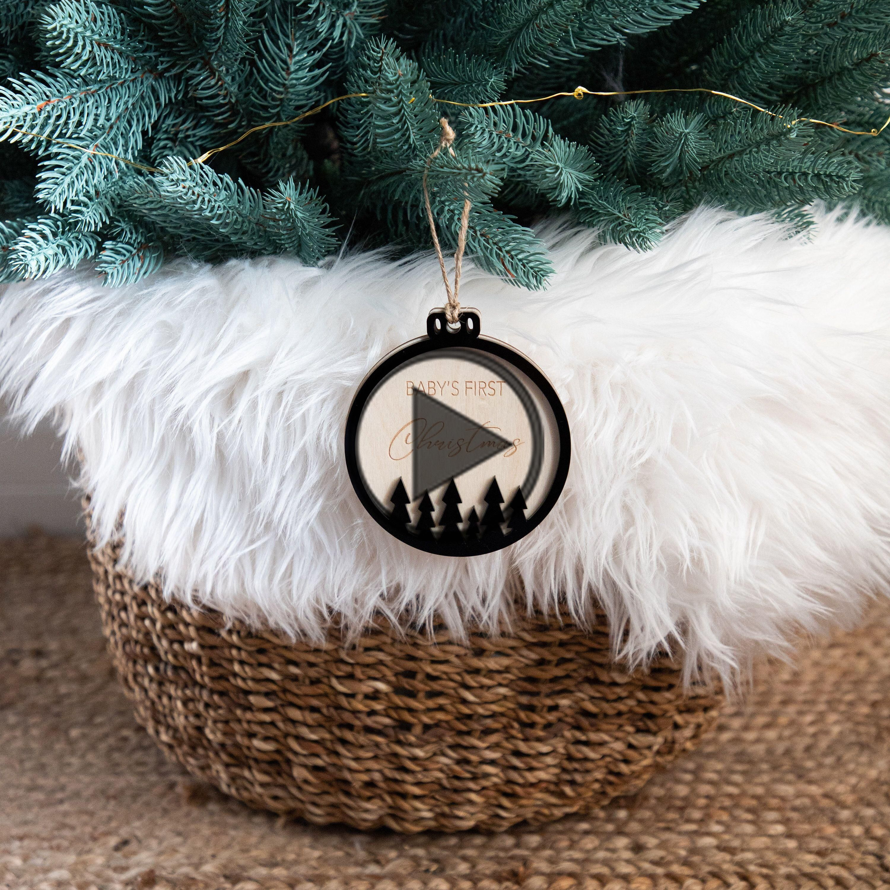 Personalized Gifts First Christmas Decoration Snowflake Bauble Wreath Decor Name Decoration Wooden