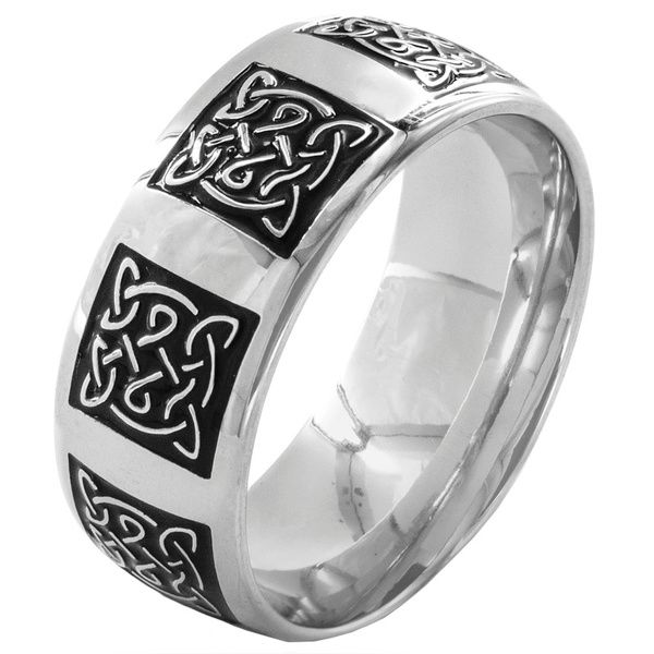 Stainless Steel Men's Traditional Celtic Knot Ring
