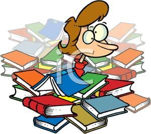 frantic studying student buried in books an frantic royalty free rh pinterest co uk library book clipart black and white library books clip art free