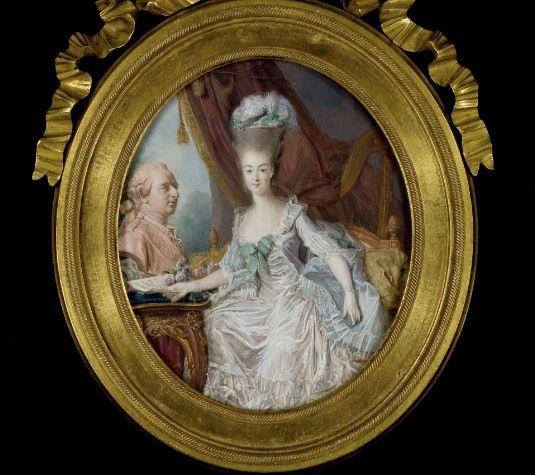 1775 miniature of Marie Antoinette by Jean-Laurent Mosnier