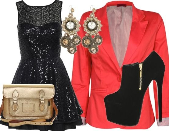 Glits & Coral - Evening Outfit - stylefruits.co.uk