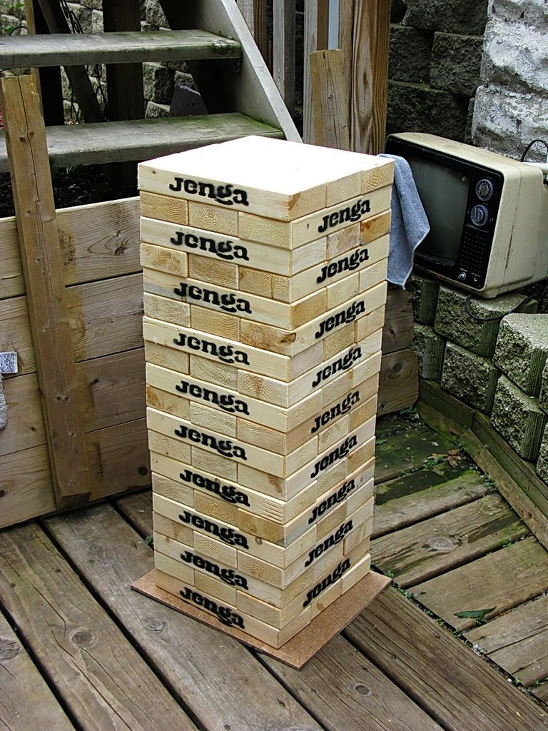 Giant Wooden Block Stacking Tower To Also Wanted Note That A Rubbermaid Or Steralite Container In The 75 80 Litre Size Is Perfect For