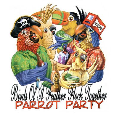 Birds Of A Feather Flock Together – Parrot Party