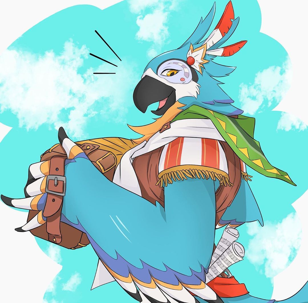 Legend of Zelda Breath of the Wild art > Rito Kass > botw