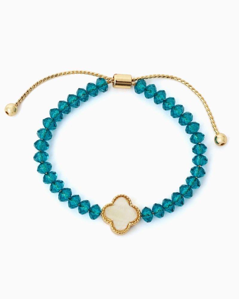 charming charlie | Clover Bead Shamballa Bracelet | UPC: 450900393212 #charmingcharlie | Ocean Blue COTM