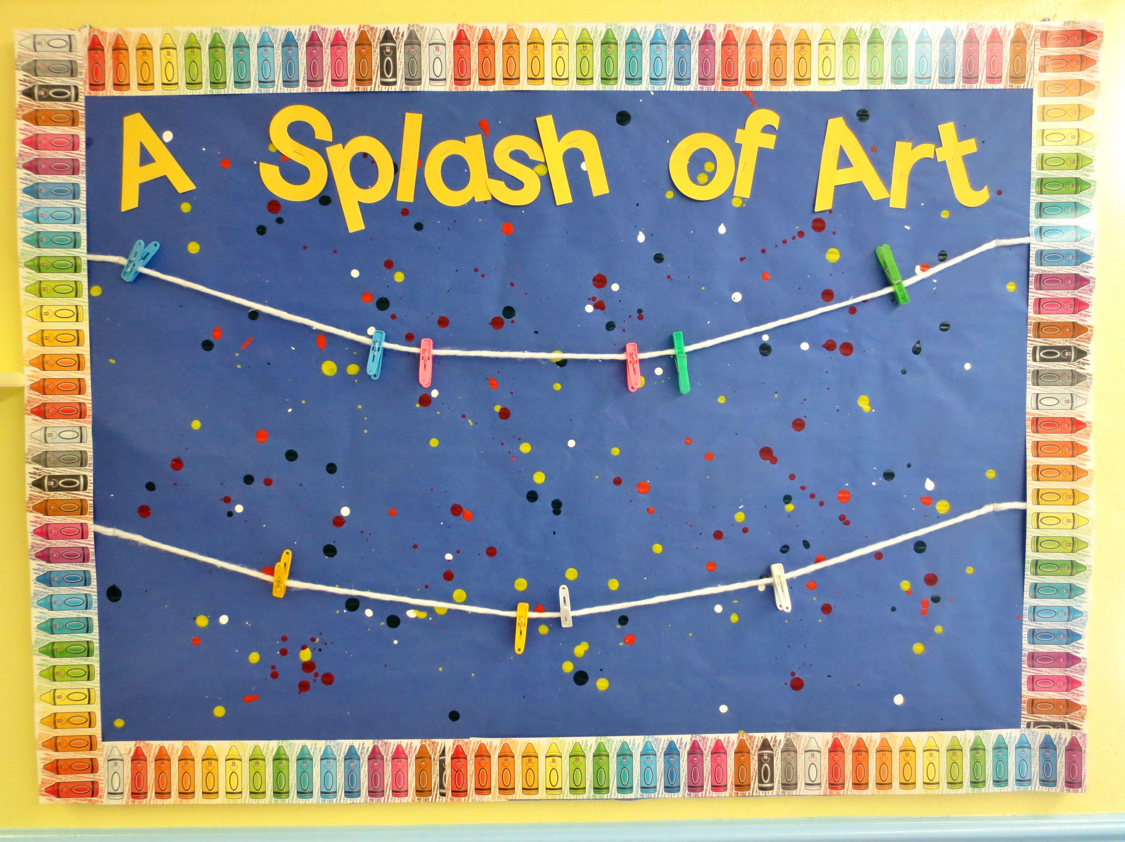 Splash Bulletin Board Ideas