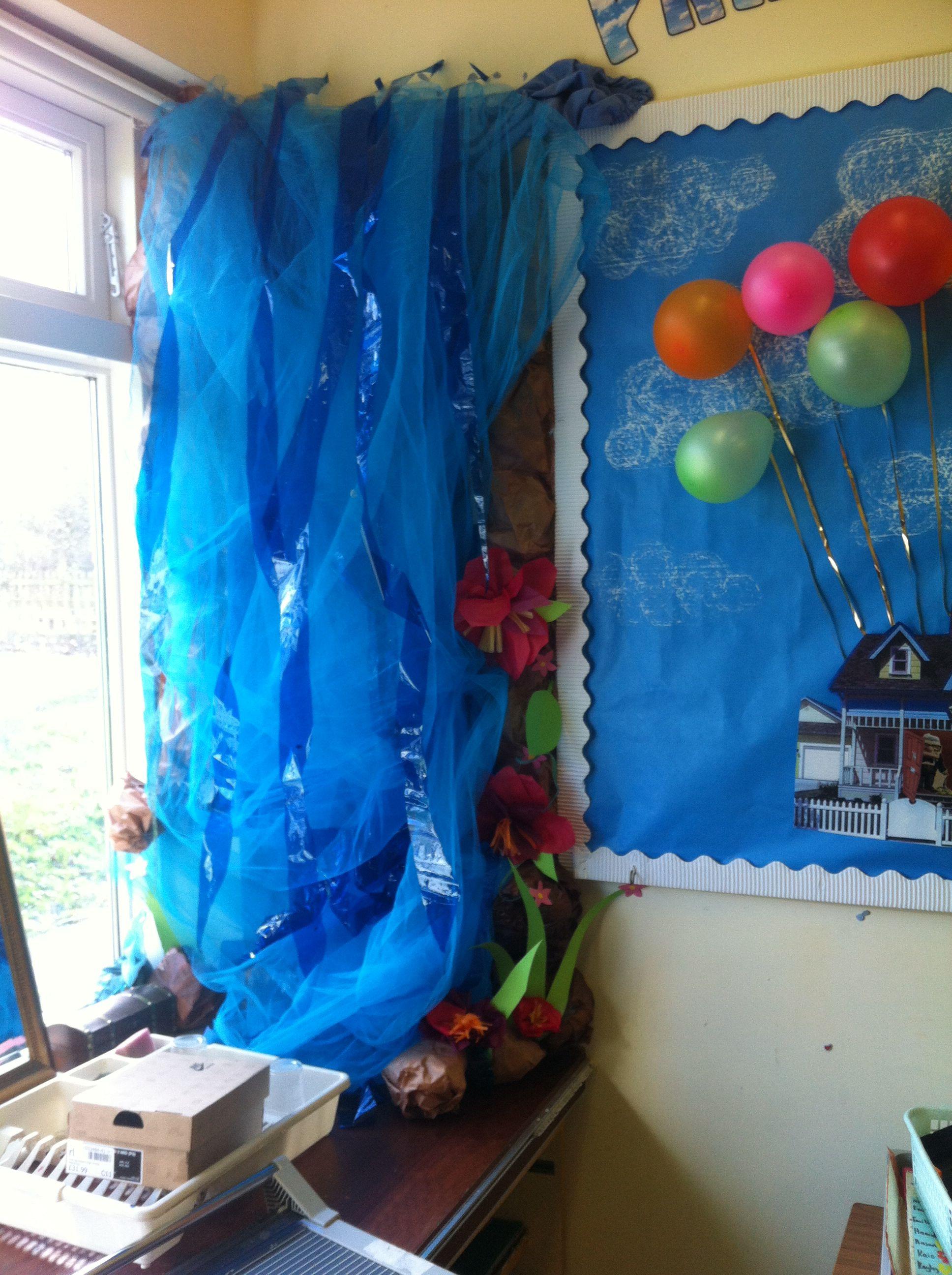 Classroom Waterfall Ideas ~ Classroom waterfall jungle theme pinterest display
