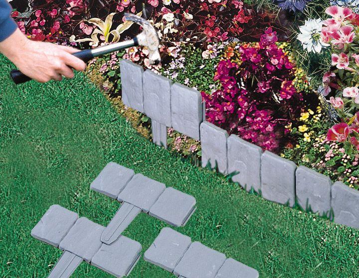 Garden Ideas Borders lakeland cobbled stone effect hammer-in border edging garden lawn