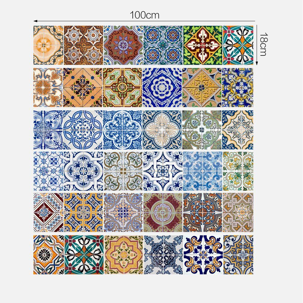 Best Yazi Peel And Stick Tile Backsplash Stair Riser Decals Diy 640 x 480
