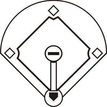 black and white baseball field clipart jpeg 350 351 bakering rh pinterest co uk  baseball diamond clipart