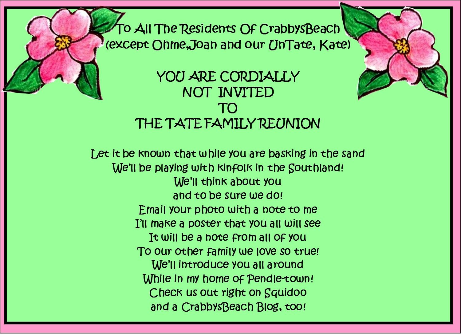 Family Reunion Favors | Family Reunion Party Invitations | Party ...
