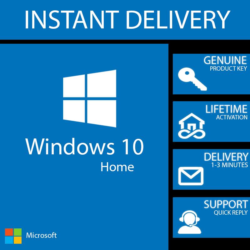 Windows 10 Home Key 32 64 Bit Activation Code License Windows 10 Windows 10 Things