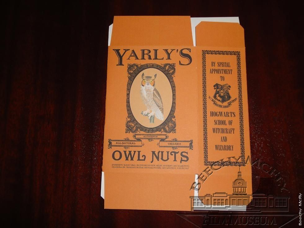Harry Potter- Owl nuts box.  Just think, Hedwig was probably feed from this very box!