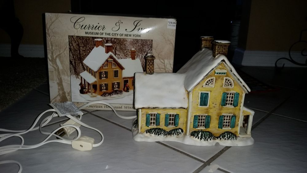 Currier Amp Ives Christmas Village Quot American Homestead