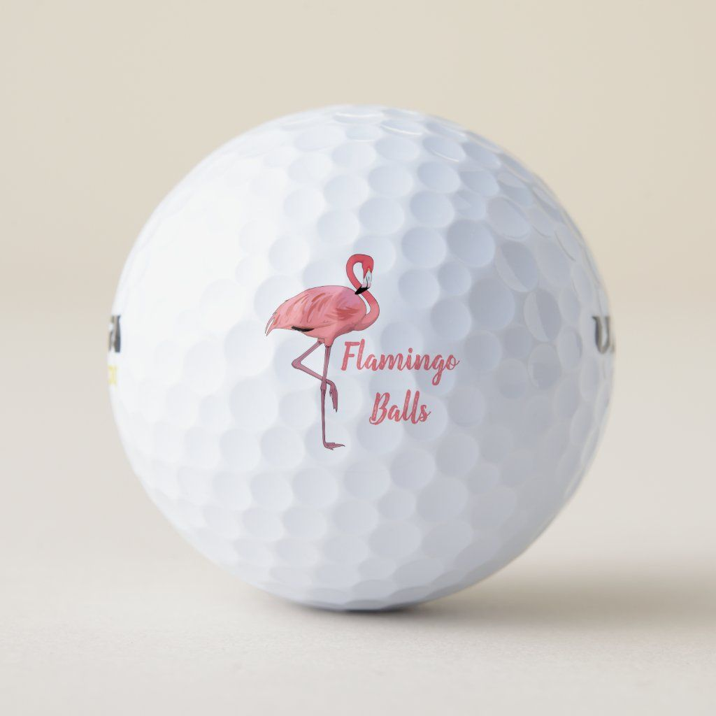 Pink Flamingo Golf Humor Golf Balls