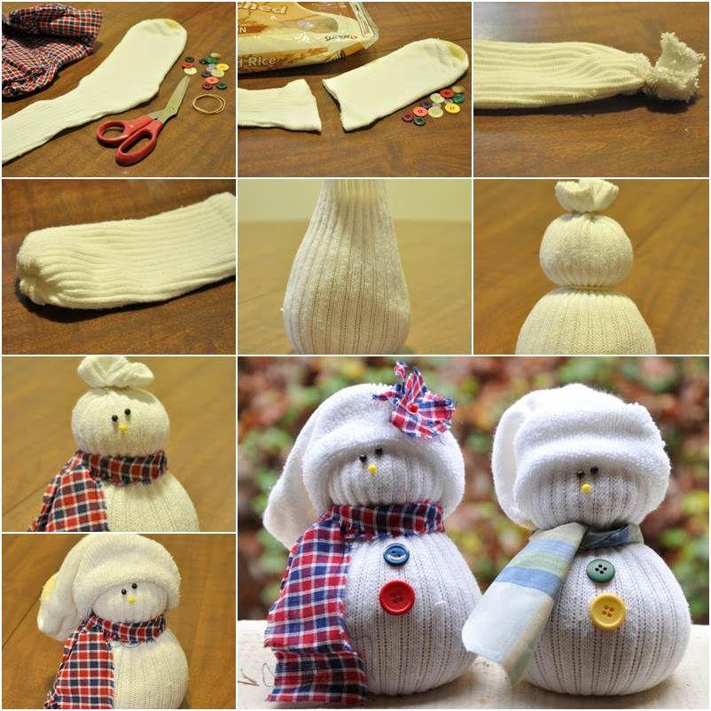 How to DIY Cute Sock Snowman | Sockenmonster, Schneemann und Monster