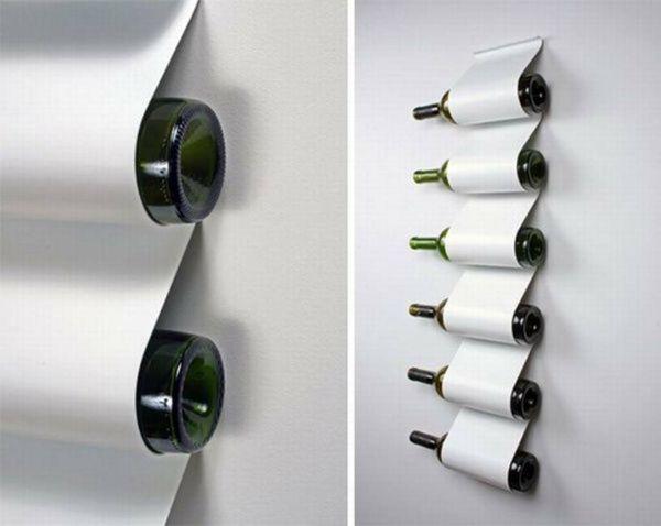 Le Rangement Bouteilles De Vin Concepts Modernes Archzinefr - Porte bouteilles mural