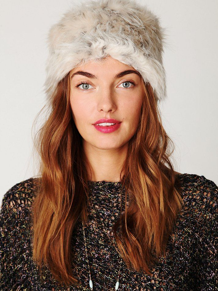 e934fc588dd41e Babushka Faux Fur Hat | things to wear | Faux fur, Hats, Fur