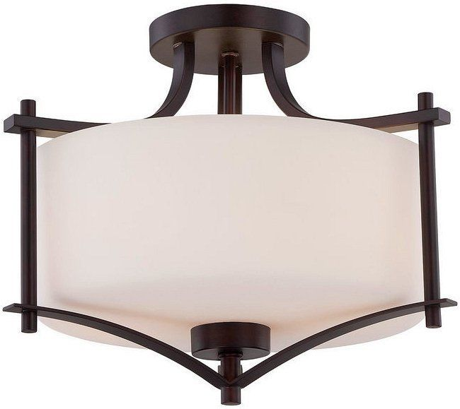 "Savoy House 6-334-2 Colton 2 Light 15"" Wide Semi-Flush Ceiling Fixture English Bronze Indoor Lighting Ceiling Fixtures Semi-Flush"