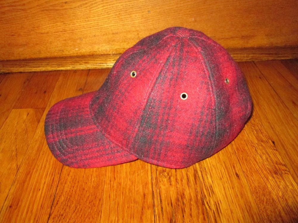 8d0320a152f VTG Woolrich Men s Adjustable Med Hunting Cap Hat Red   Black Buffalo Plaid  Wool  fashion  clothing  shoes  accessories  mensaccessories  hats (ebay  link)