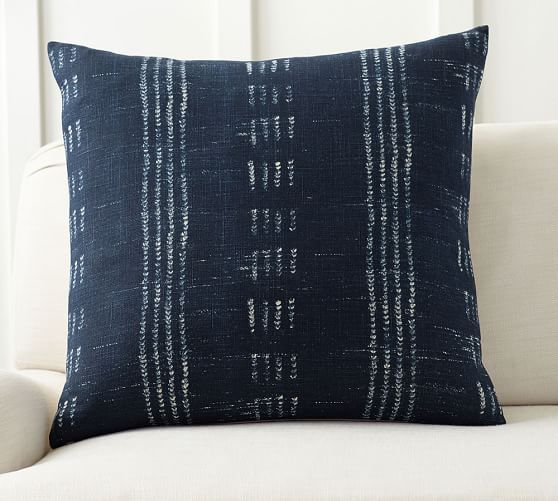 Shibori Dot Print Pillow Cover Pottery Barn