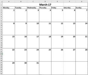 How to Make a Calendar Template in Excel | Computer useage | Excel