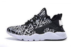 99b753e88d174 Mens Womens Nike Air Huarache Run Ultra Jacquard Black White 818061 001  Running Shoes