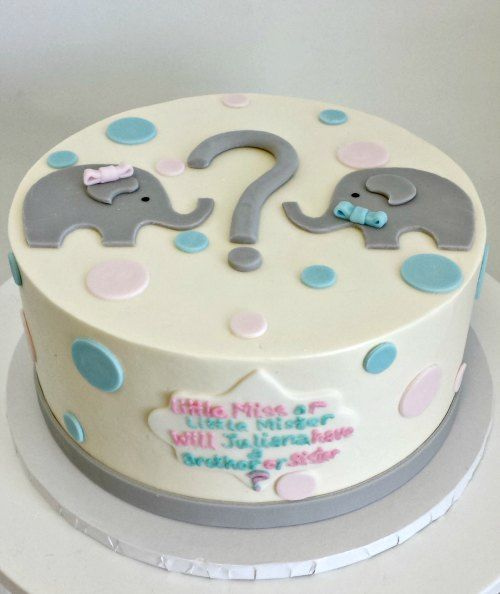 gender reveal baby shower cake boy girl  fondant cut question, Baby shower invitation