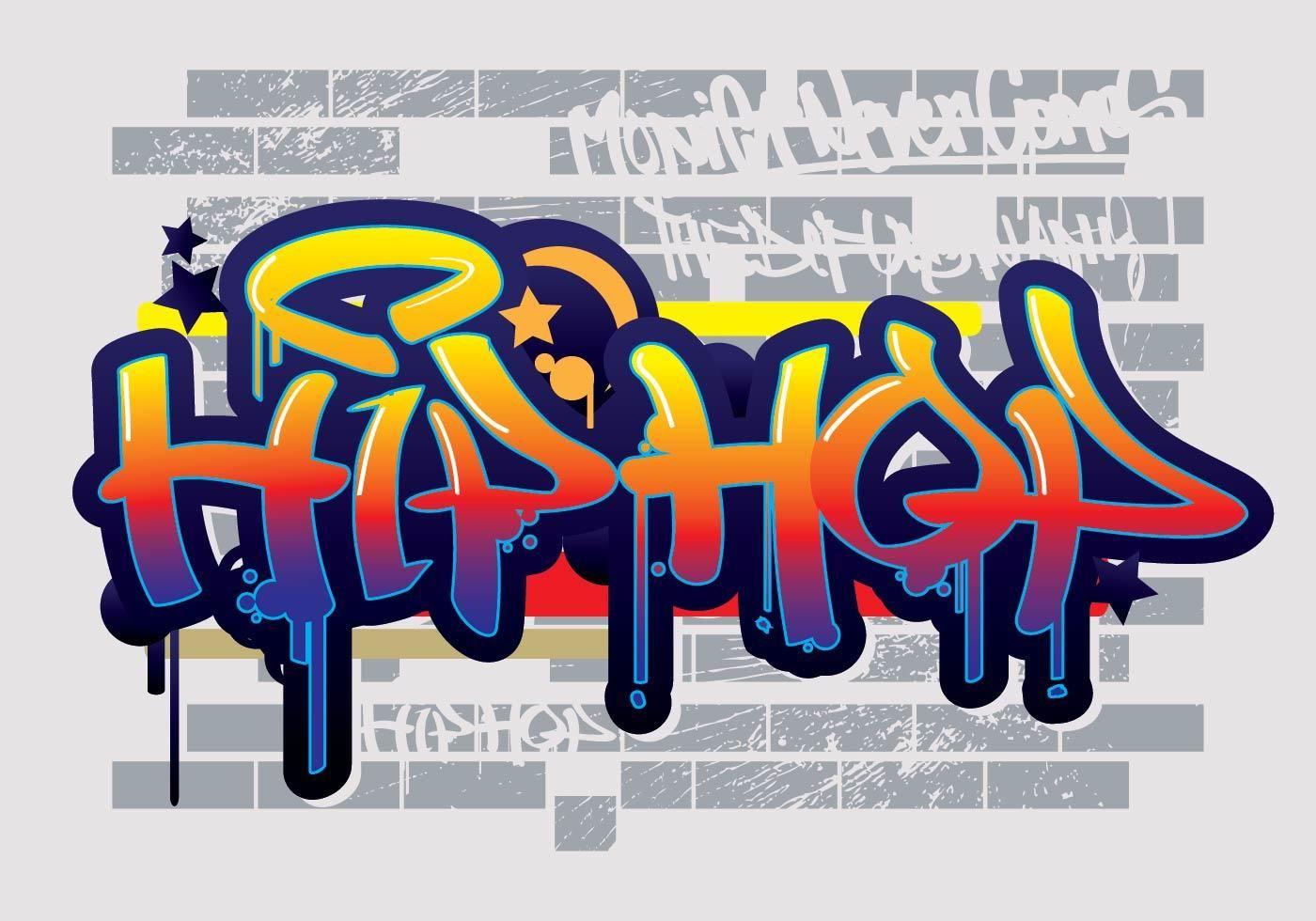 Hip Hop Graffiti Text Vector Graffiti Text Graffiti Words Graffiti Lettering