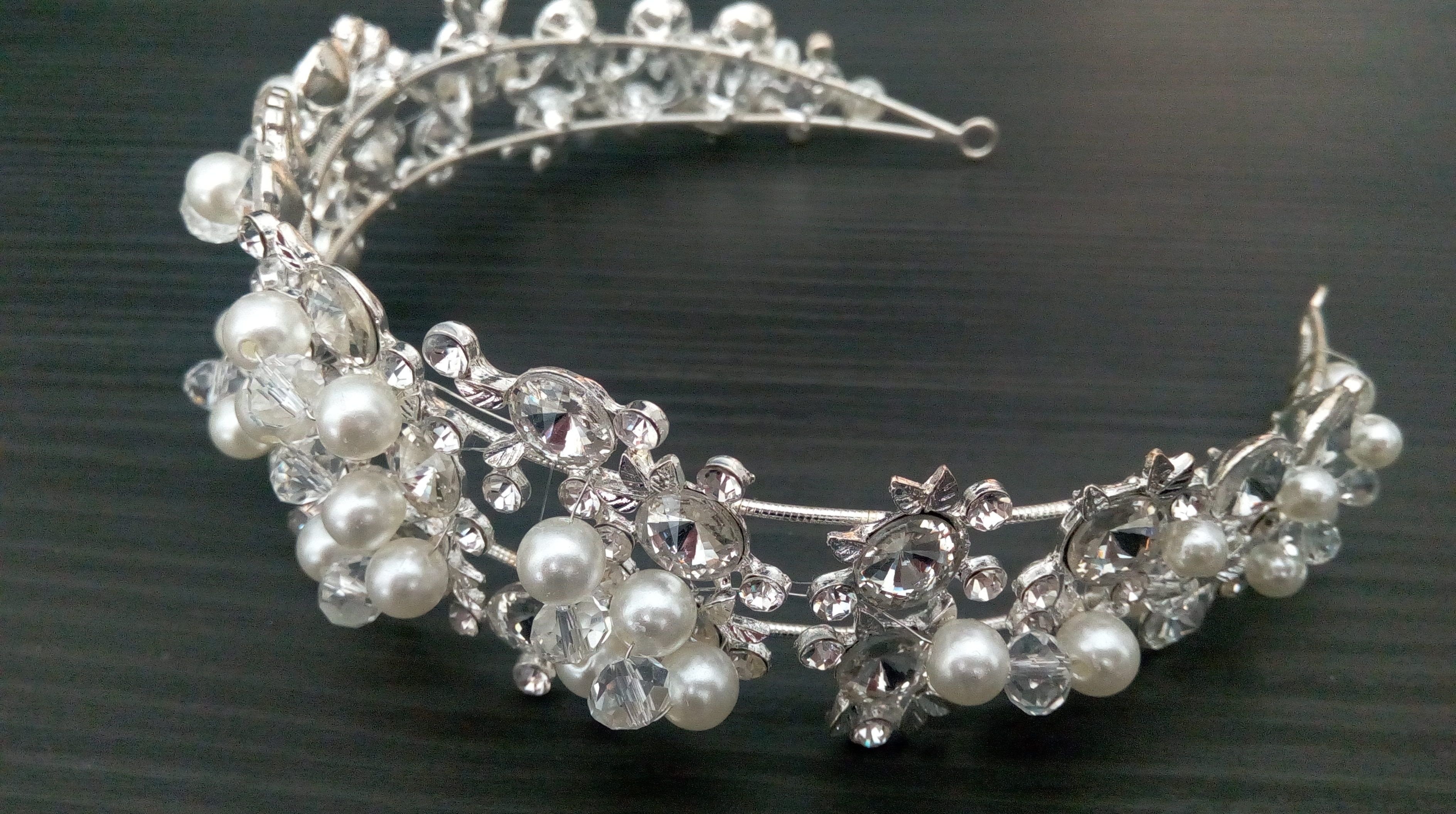 Haarschmuck Brautschmuck Perle Haarband Haarkranz Haarreif Kopfschmuck Hochzeit
